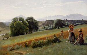 Mornex (Haute-Savoie) - Au fond, le mole
