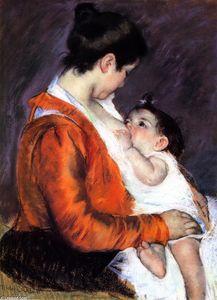 Mother Louise Nursing Her Baby
