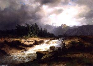 Mountain Torrent before a Storm (also known as The Aare River, Hastital)