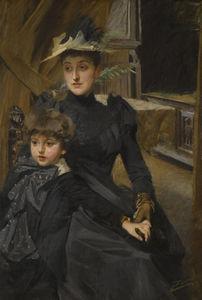 Mrs. Weguelin and her Son