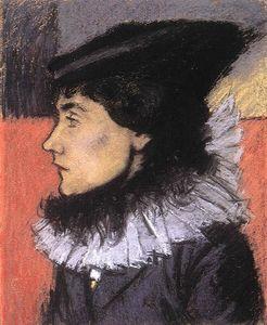 Ms. László Vágó in a Black Dress