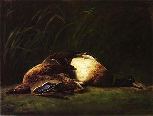 Nature Mort - Hen and Drake Mallard