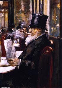 Newspaper Reader at the Café (also known as Gentleman at a Coffee House)