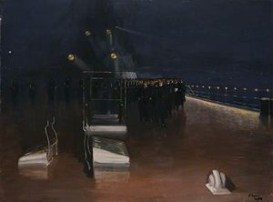 Night and the Arrival of the German Delegates: HMS 'Queen Elizabeth', 15 November 1918