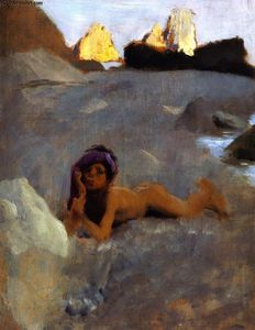 Nude Boy on Sands (also known as Nude Girl on the Sands)