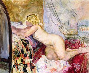 Nude Lying across a Bed