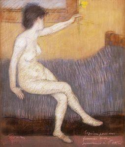 Nude with Yellow Daffodil