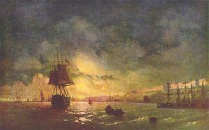 Odessa at night