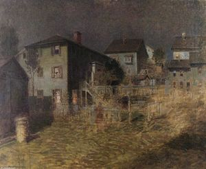 Old House, Moonlight, Gloucester, Massachusetts