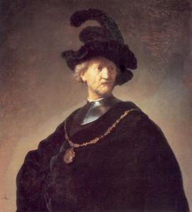 Old Man with a Black Hat and Gorget