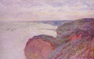 On the Cliff near Dieppe, Overcast Skies