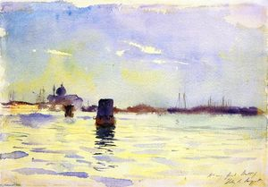 On the Lagoons, Venice (also known as View from the Bacino, S. Giorgio Maggiore to the Left, Venice)