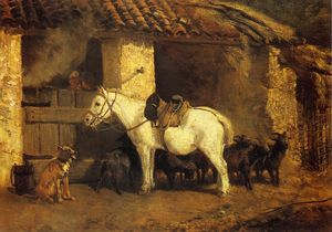 Outside the Stable