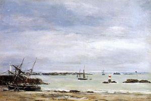 Pontreiux, the Port at Low Tide