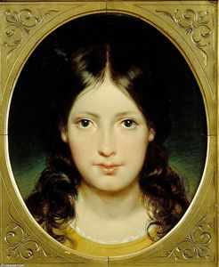 Portrait in an oval