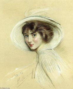 A Portrait of Annette, Wearing a White Hat