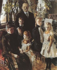 Portrait of Antti Ahlström and Family