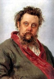 Portrait of the Composer Modest Musorgsky.