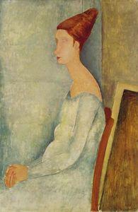 Portrait of Jeanne Hebuterne Seated in Profile