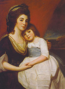 A Portrait of Lady Georgiana Smyth and Child