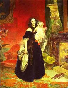 Portrait of M. A. Beck and Her Daughter M.I. Beck