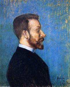 Portrait of a Man, Presumed Portraif of Félix Fénéon