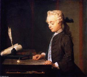Porträt des Sohn M . Godefroy , Juwelier , Beobachtete ein top spin ( auch bekannt als Kind mit Top oder Porträt von Autuste-Gabriel Godefroy )