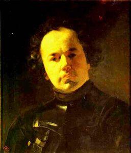 Portrait of Ya. F. Yanenko with Armour