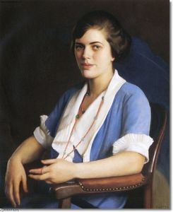 Portrait Of A Young Woman In Blue