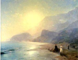 Pushkin and Countess Raevskaya by the sea near Gurzuf and Partenit