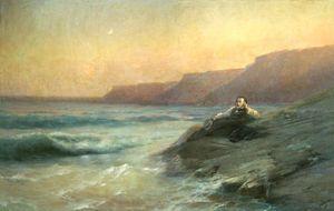 Pushkin on coast of Black sea