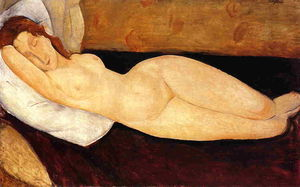 Reclining Nude, Head Resting on Right Arm (also known as Nude on a Couch)