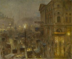 Return from the Matinée, Piccadilly Circus
