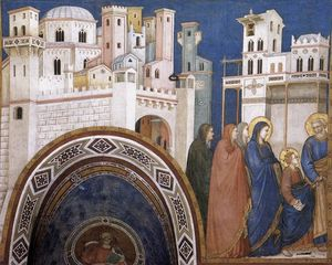 Return of Christ to Jerusalem (North transept, Lower Church, San Francesco, Assisi)