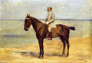 Rider on the Beach Facing Left