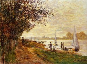 The Riverbank at Le Petit-Gennevilliers, Sunset