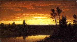River Sunset - View of the Catskills