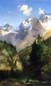 A Rocky Mountain Peak, Idaho Territory