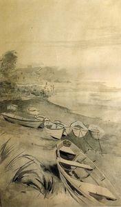 Rowboats along the Shore