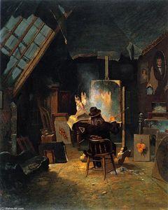 Samuel Marsden Brookes in His Studio