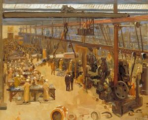 Scene at a Clyde Shipyard, Messrs. William Beardmore & Co.