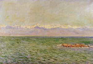 море и альпы ( известно также, как Средиземное море в антибе )