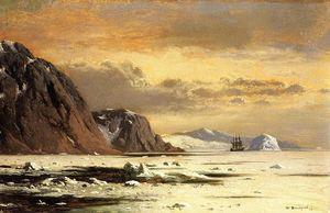 Seascape with Icebergs