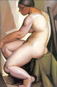 Seated Nude in Profile