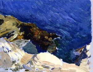 The Sea at Ibiza (study for 'The Smugglers)