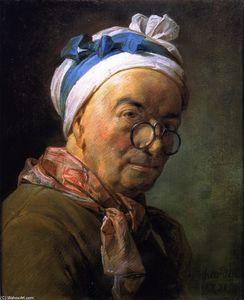 (また、眼鏡を身に着けているシャルダンの肖像として知られている)自画像