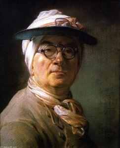 Self Portrait (also known as Portrait of Chardin Wearing an Eyeshade)