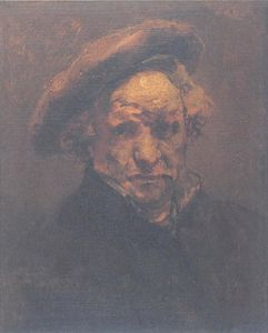 Self Portrait with Beret, Unfinished