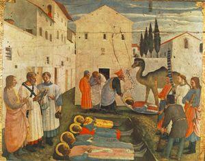 Sepulchring de saint Cosmas et saint Damian ( san marco retable )