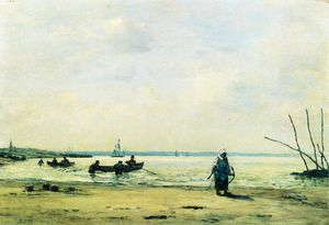 The Shore at Low Tide near Honfleur